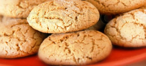 A Red Plate of Cookies